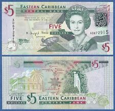 East Caribbean States 5 Dollars P 47 UNC Low Shipping! Combine FREE (P-47a 2008)