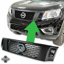 Black front grille Nissan Navara NP300 pickup 2015 D23 2.3 style stealth mesh