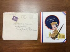 RARE 1944 WWII Army Manual Greeting Card home front Fort Jackson 560th Signal De