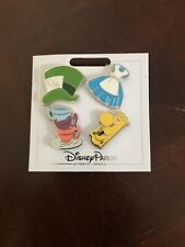 Disney Parks Alice In Wonderland Icons Booster Set of 4 Trading Pin New