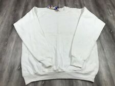 A6 NWT Vintage Fruit of the Loom Deadstock White Crewneck Sweater 1990's XXL