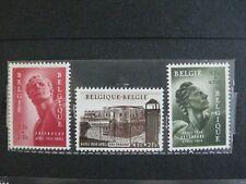 timbres belges : monument national aux prisonniers 1954 COB n° 943 à 945 **