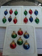 Vintage 18, Kurt Adler~ Kringle Glass~ Mini Glass Christmas Tree Ornaments