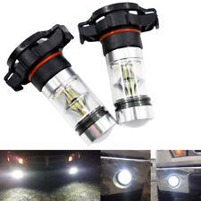2pcs Car Auto LED Fog Light Bulb H16 5202 PS24WFF 100W CREE 6000K Super White