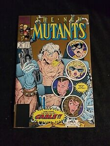 Marvel Comics The New Mutants #87 Gold Cover 1st Full Cable VF+ 1990