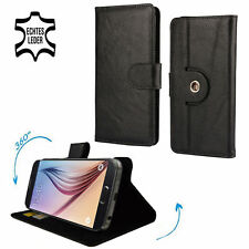 étui de portable Motorola Moto G4/4g Plus 360° CUIR 360 L Cuir Noir