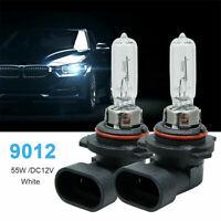 2x 9012 HIR2 PX22D Car HeadLight Bulb 12V 55W Clear Halogen Headlamp Light Bulb