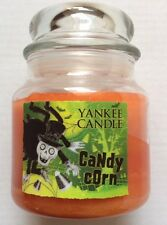 YANKEE CANDLE BONEY BUNCH HALLOWEEN CANDY CORN 12.5 oz HOLOGRAM LABEL JAR RARE