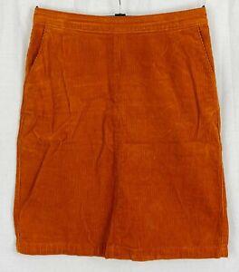 TU SAINSBURYS Womens Burnt Orange Corduroy A-Line Skirt Size 12