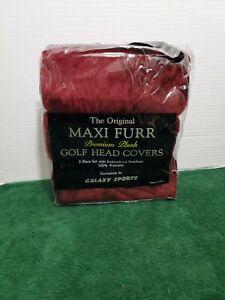 Golf Club Head Covers Maxi Furr Premium Plush Maroon