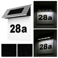 LED Light Sign Solar Powered House&Hotel Door Address Plaque Number Digits Plate