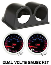 "2"" 52MM TWIN DUAL VOLTS GAUGES & POD TOYOTA LANDCRUISER HILUX 4X4 4WD COMP TRUCK"