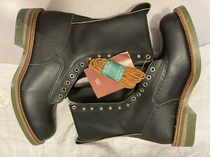 VINTAGE RED WING 919 BOOTS SIZE 12 E NEW OLD STOCK WITH TAGS LOGGER BLACK