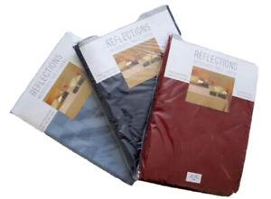 Bardwil REFLECTIONS Microfiber Tablecloths Merlot Stone Blue Oblong Oval Rd  NIP