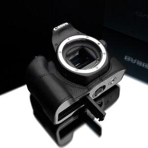 GARIZ XS-CH200DBK Genuine Leather Half Case for Canon 200D SL2 Black