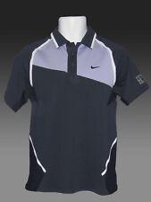 New NIKE TENNIS DriFit Polo Shirt Navy Blue Lavender M