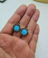 Lovely Didae Shablool Sterling Silver & Opal  Earrings