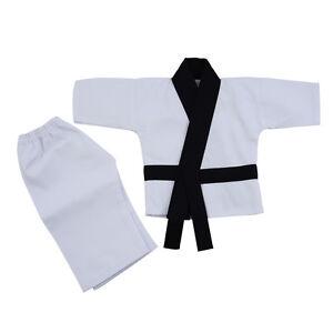 Playwell Baby Infant Taekwondo Uniform Suit TKD Future Black Belt Babies Toddler