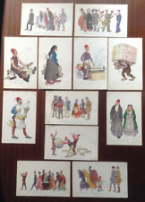 More details for 12 postcards lot ww1 salonika salonique goyet water colours of street life