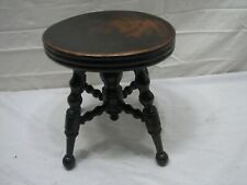 Antique Wooden Doll Piano Stool with Ball Feet Bench Salesman Sample Mini