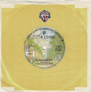 FLEETWOOD MAC Go Your Own Way Vinyl Record Single 7 Inch Warner Bros. 1977 Rock