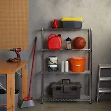 High Quality 4 Tier Layer Shelf Adjustable Steel Wire Metal Shelving Rack Chrome