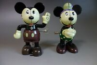 Mickey mouse Minnie Wind Up tin Toys Retro Collection Disney Young Epoch