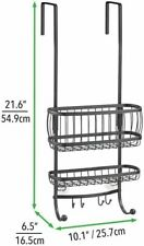 Small Metal Over Door Bathroom Tub & Shower Caddy Hanging Storage Organizer Hold