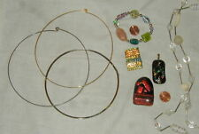 Jewelry, Necklaces, Pendants, Bracelet, Beads Older Lot Of Art Glass