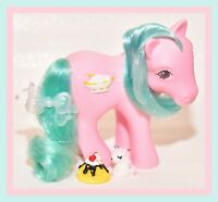 ❤️My Little Pony MLP G1 Vtg 1987 Banana Surprise Sundae Best 3D Symbol Pink❤️