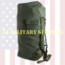 Us Military Duffel Bag / Sea Bag, Heavy Duty Duck Canvas w/Straps Aaa-Very Good!