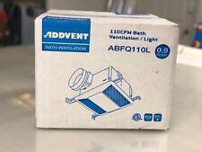 Addvent 110 CFM, Bath Ventilation/Light Ceiling Exhaust Bath Fan ABFQ110L Quiet