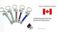 1 pc Mini Metal Keychain Pipe Smoking Tobacco + 5 Screens BEST PRICES IN CANADA