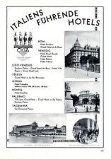 Hotel in Italien XL Reklame 1929 Excelsior De Rome Villa Regina Ciga Colombia +