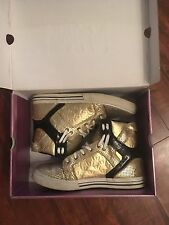 Supra Skytop Shoes Gold/Black Size 8