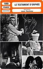 FICHE CINEMA : LE TESTAMENT D'ORPHEE - Cocteau,Arnoul 1960 Testament of Orpheus