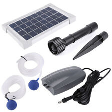 180L Portable Solar Powered Oxygenator Pond Water Oxygen Pump Air Stone Aerator