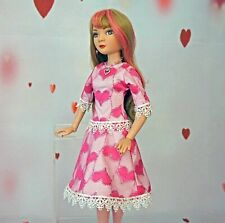 "Pink Heart Dress, Stockings, & Jewelry Tonner Ellowyne Wilde Outfit 16"" Dolls"