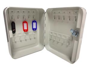 Key Box 20 Safe Security Hook Cabinet Secure Storage Case Grey Cathedral