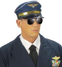 Captain Wyatt Piloten Mütze NEU - Karneval Fasching Hut Mütze Kopfbedeckung