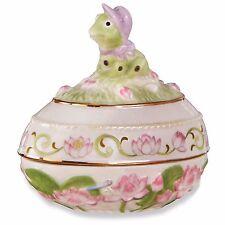 Lenox 2016 Frog Easter Egg Box Annual Trinket Springtime Lotus Flower Animal New