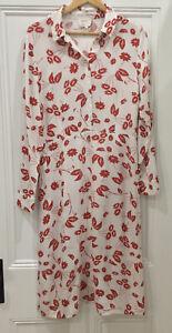 Designer HI THERE BY KAREN WALKER Dress Size 12 Midi Long sleeve floral