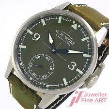 "Original Glashütte i/SA C.H.Wolf ""Pilot Green"" 45 mm Ø - UPV = 2.450,- €"