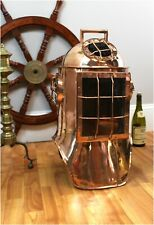 Life Size Divers Helmet in Solid Copper Old Nautical Antique Replica Scuba Gear