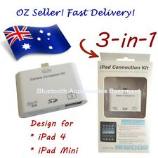 3 in 1 Camera Connection Kit Card Reader (For iPad 4 / Mini)