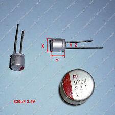 4Pcs Solid Capacitor 820uF 2.5V FUJITSU original - Condensador solido radial