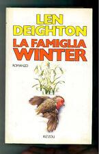 DEIGHTON LEN LA FAMIGLIA WINTER RIZZOLI  1989 I° EDIZ. LA SCALA