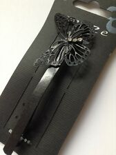 A Metal Matt Black Simple Butterfly Design Barrette Hair Clip