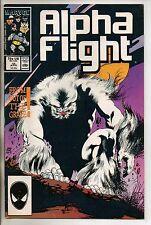 Marvel Comics Alpha Flight #45 April 1987 F+