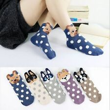 Cotton Dogs Women's Socks Cats Small Ear Cartoon Animal Series Wave Point Hot